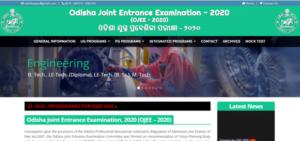Odisha JEE 2020